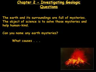 Chapter 2 - Investigating Geologic Questions