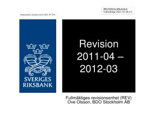 Revision  2011-04 – 2012-03