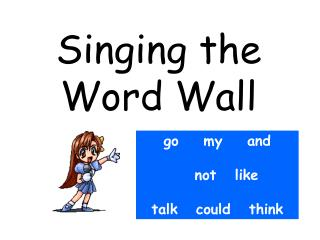 Singing the Word Wall