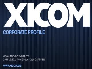 Xicom Technologies Ltd. | CMMI Level-3 Web Development Compa
