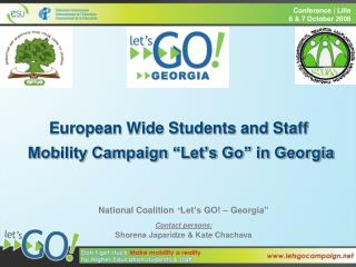 "European Wide Students and Staff  Mobility Campaign ""Let's Go"" in Georgia"