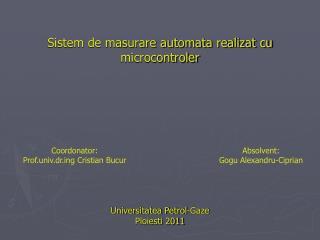 Sistem de masurare automata realizat cu microcontroler