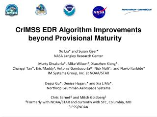 CrIMSS EDR Algorithm Improvements beyond Provisional Maturity