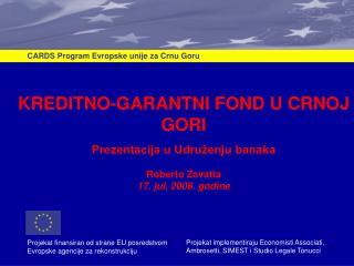 CARDS Program Evropske unije za Crnu Goru