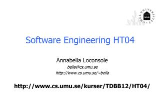Software Engineering  HT04