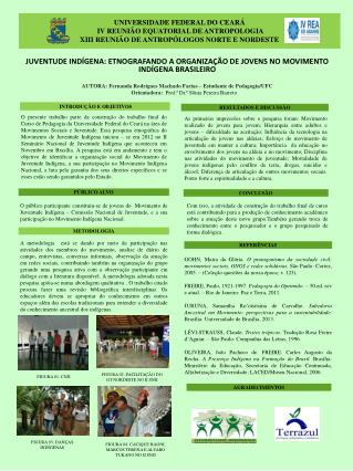 JUVENTUDE INDÍGENA: ETNOGRAFANDO A ORGANIZAÇÃO DE JOVENS NO MOVIMENTO INDÍGENA BRASILEIRO