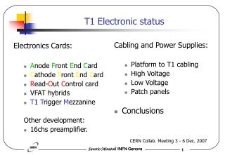 T1 Electronic status