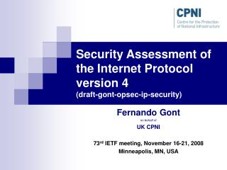 Security Assessment of the Internet Protocol version 4 (draft-gont-opsec-ip-security)