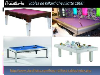 Des Tables de Billard Qui se Transforment en Tables de Salle