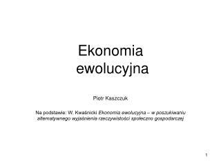 Ekonomia  ewolucyjna