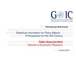 110 Third Annual Arab Forum 101 1011011 10110110110011011010011010110101001101011