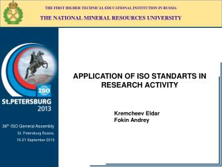 APPLICATION OF ISO STANDARTS IN RESEARCH ACTIVITY