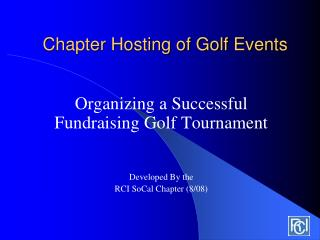 Chapter Hosting of Golf Events
