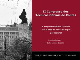 II Congresso dos  Técnicos Oficiais de Contas