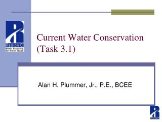 Current Water Conservation (Task 3.1)