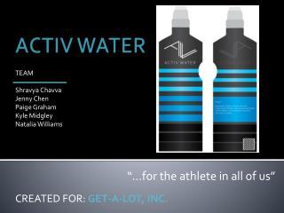 ACTIV WATER