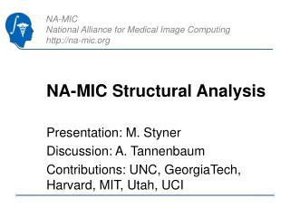NA-MIC Structural Analysis