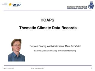 HOAPS  Thematic Climate Data Records