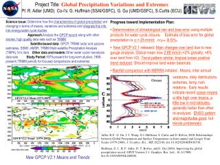 Project Title :  Global Precipitation Variations and Extremes