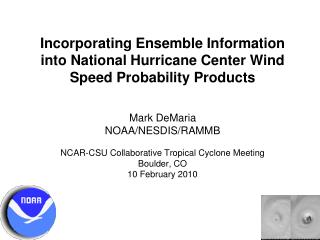 Incorporating Ensemble Information into National Hurricane Center Wind Speed Probability Products