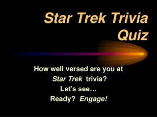 Star Trek Trivia Quiz