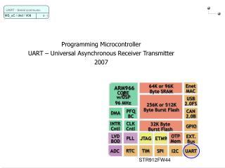 Programming Microcontroller UART – Universal Asynchronous Receiver Transmitter 2007