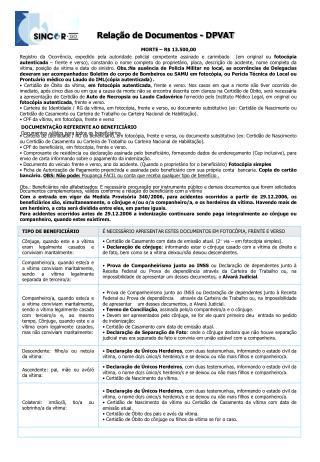DOCUMENTAÇÃO REFERENTE AO BENEFICIÁRIO Documentos válidos para todos os beneficiários