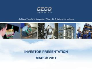 INVESTOR PRESENTATION MARCH 2011