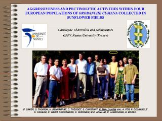 •  AIMS AND PLANT MATERIALS  • 1 – A preliminary step : to check the level of aggressiveness
