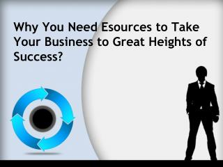 Why You Need Esources to Take Your Business to Great Heights