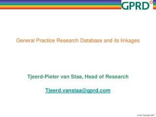 General Practice Research Database and its linkages