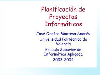 Planificación de Proyectos Informáticos