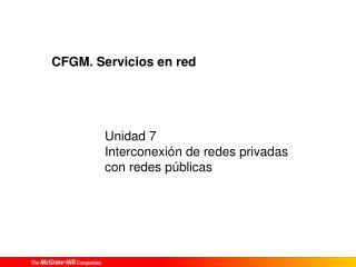 CFGM. Servicios en red