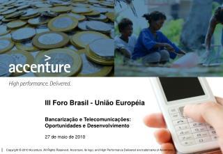 III Foro Brasil - União Européia