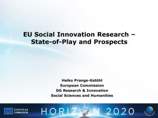 EU Social Innovation Research – State-of-Play and Prospects