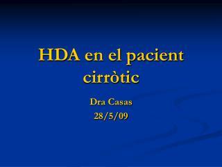 HDA en el pacient cirr�tic