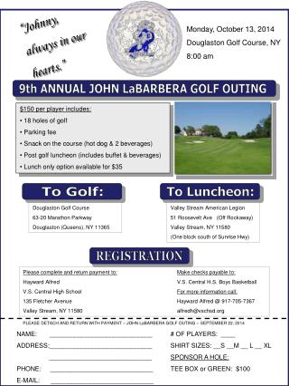 9th ANNUAL JOHN LaBARBERA GOLF OUTING