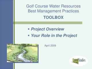 Golf Course Water Resources Best Management Practices TOOLBOX