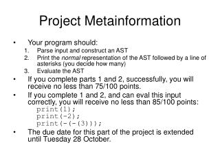 Project Metainformation