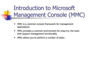 Introduction to Microsoft Management Console (MMC)