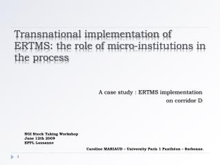 Transnational implementation of ERTMS: the role of micro-institutions in the process