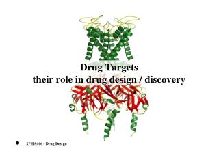 Drug Targets their role in drug design / discovery