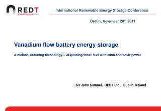 International Renewable Energy Storage Conference