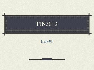 FIN3013