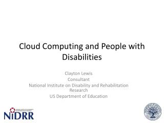 Cloud Computing and People with Disabilities