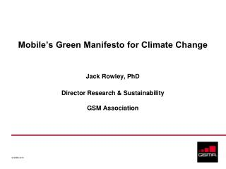 Mobile's Green Manifesto for Climate Change