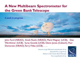 A New Multibeam Spectrometer for the Green Bank Telescope