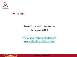 E-tent