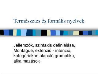 Természetes és formális nyelvek