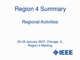 Region 4 Summary